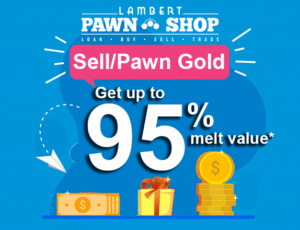 Sell gold for 95% of melt price